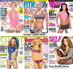 2012 Fitness Magazine covers