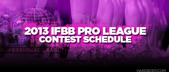 2013 IFBB contest schedule