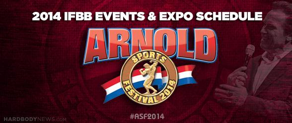 Arnold IFBB Schedule 2014