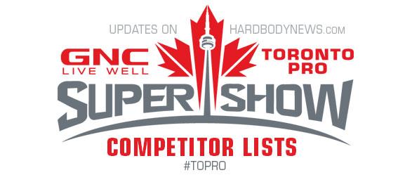 Toronto Pro Competitors