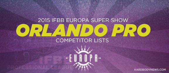 2015 Europa Super Show Competitors Orlando