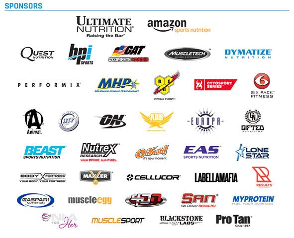 2015 Olympia Sponsors
