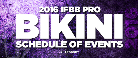 2016 IFBB Pro Bikini Schedule