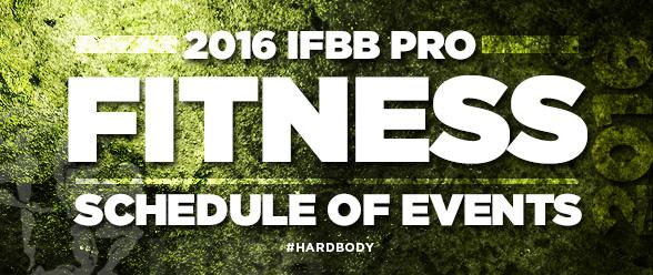 2016 IFBB Pro Fitness Schedule